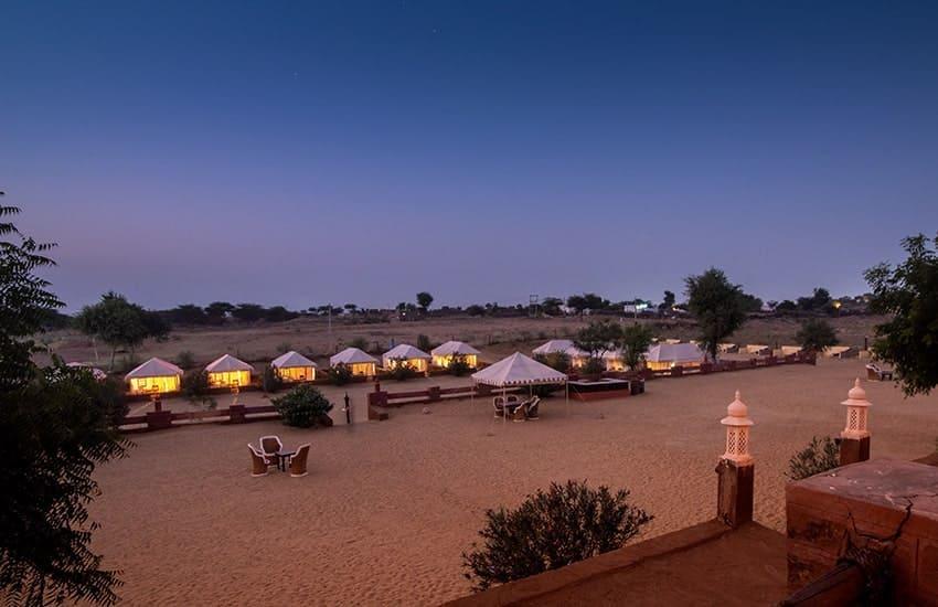 Camping resort at Osian